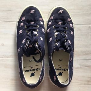 Superga Navy Embroidered Hearts 💕 Sneakers
